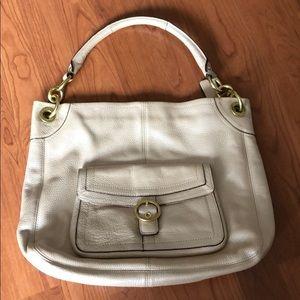 Coach leather purse. Beige/pink